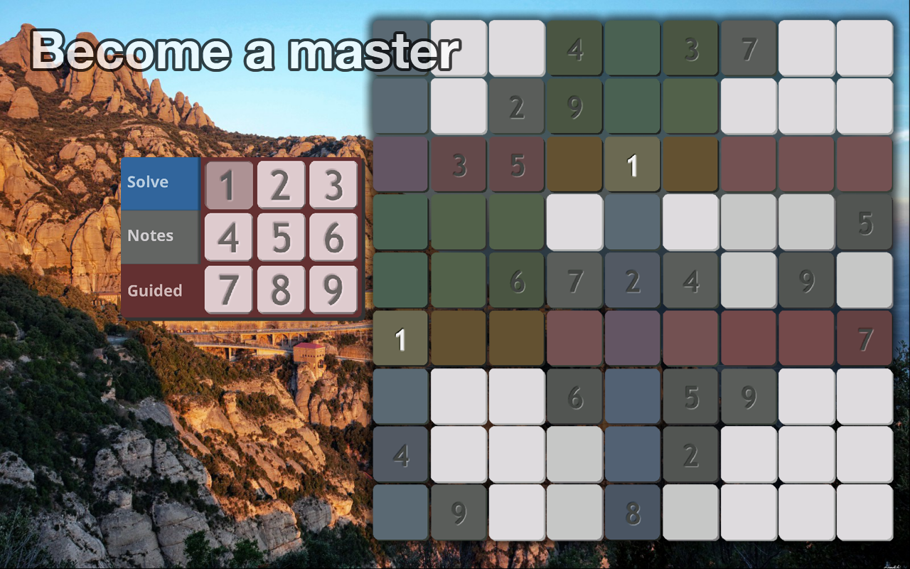 Sudoku Masters - Rock Forms- screenshot