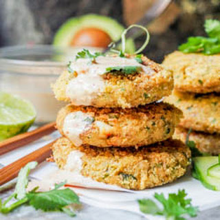 Chickpea and Hearts of Palm Asian Tuna Cakes with Kimchi Mayo Aioli {GF, DF}