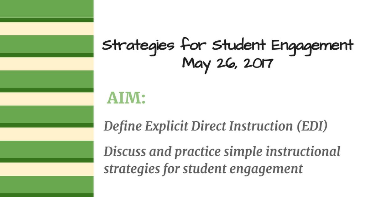 Direct Instruction Strategies May 17 Google Slides