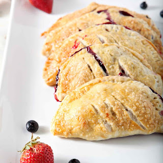 Strawberry and Blueberry Hand Pies.