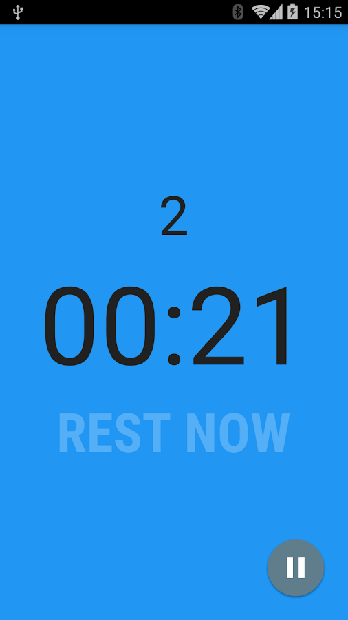 Interval Timer: captura de pantalla