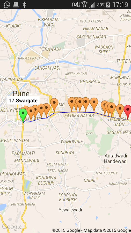 Pune Bus Info- screenshot