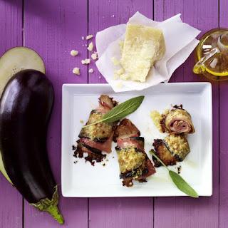 Ham and Cheese Eggplant Rolls.