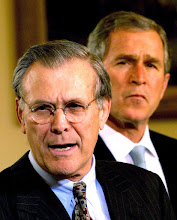 Photo: Caption=Secretary Donald Rumsfeld speaks after his being sworn in as Secretary of Defense with President Bush in the Background. Ceremony held in the Oval Office. Ref: B210_097120_0024Date: 26.01.2001COMPULSORY CREDIT: UPPA/Photoshot