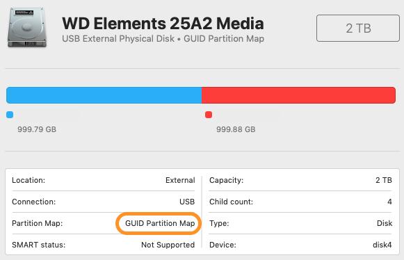 macOS Disk Utility.