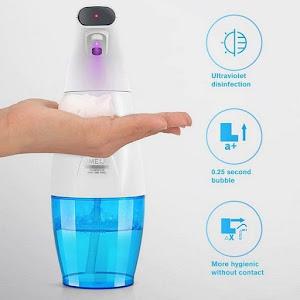 Dozator de sapun cu lampa UV, spuma pentru dezinfectare