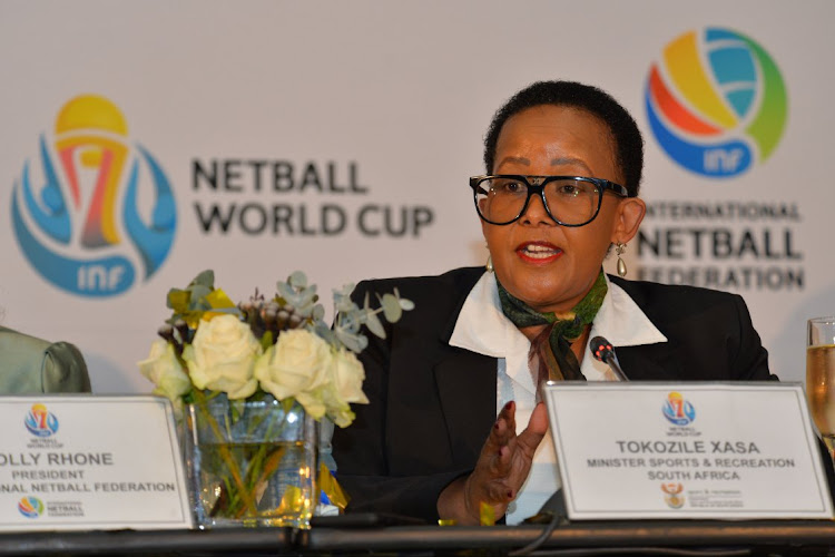 CAPE TOWN, SOUTH AFRICA - MARCH 07: Minister of Sport and Recreation, Tokozile Xasa, during the 2023 Netball World Cup Bid Announcement. Picture: GRANT PITCHER / GALLO IMAGES