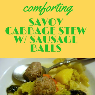 Delicious Savoy Cabbage Stew With Sausage Balls