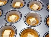 To assemble muffins:  Fill each muffin well with 2 T of batter (or...