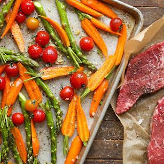 Sheet Pan Steak and Veggies.