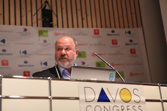 "Photo: Sergey Zverev speaking - ""Latest Trends for Comms Consultancies"" Panel - 2012"