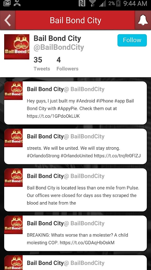 Bail Bond City BondsAway App- screenshot