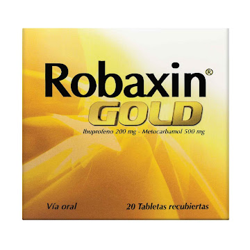 //Robaxin Gold 200/500mg   Tab Caja x20Tab. PFIZER Ibuprofeno Metocarbamol