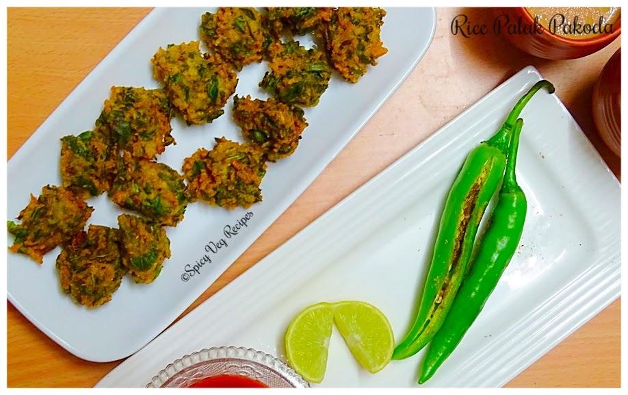 Spinach and Rice Pakora