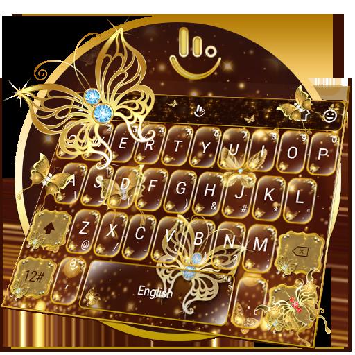 Golden Butterfly Keyboard Theme