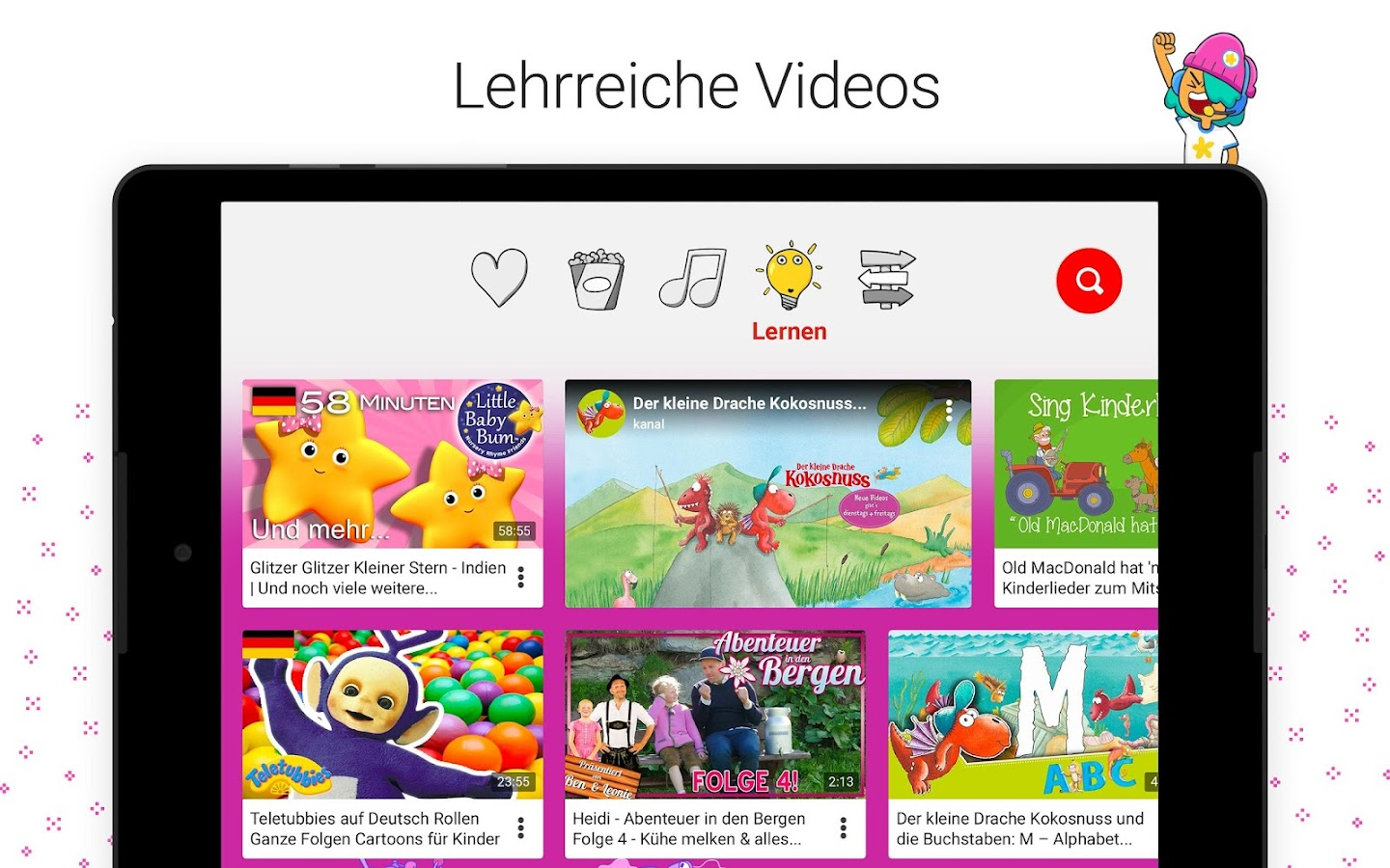 youtube kids android apps auf google play. Black Bedroom Furniture Sets. Home Design Ideas