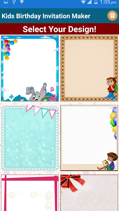 kids birthday invitation maker - android apps on google play, Birthday invitations