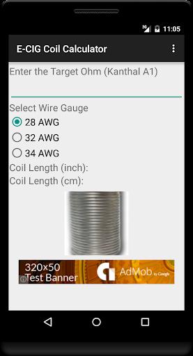E-CIG Coil Calculator