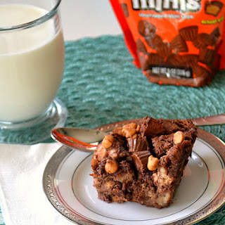 Reese's Chocolate Peanut Butter Bread Pudding