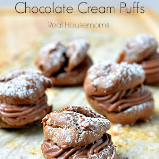 Super Easy Chocolate Cream Puffs