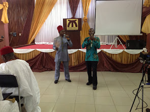 Photo: An Igbo Traditional Griot & Oja Flutist Entertain Participants