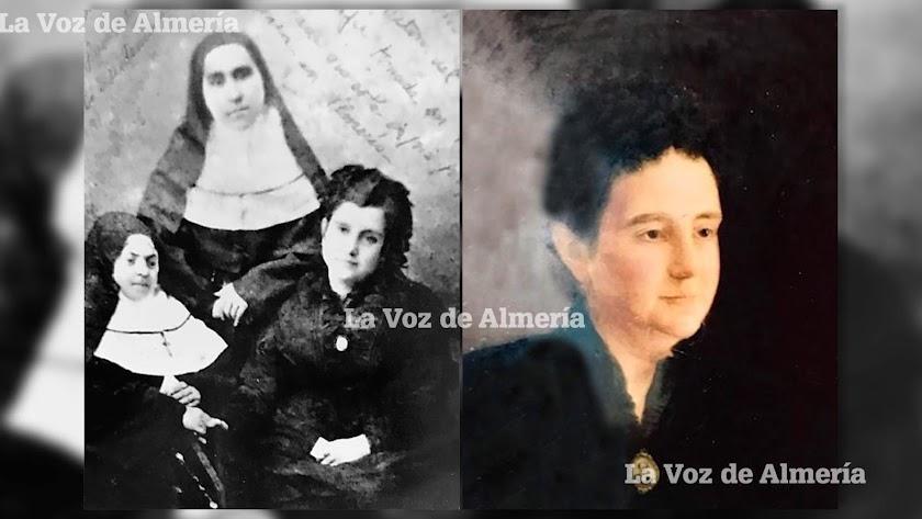 María del Mar Burgos Cañizares en sus años de juventud cuando ayudó a las monjas de las Siervas de María a instalarse en la ciudad.