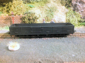 Photo: 014 The forthcoming Peco Lynton & Barnstaple bogie open wagon. Much appreciation to Andrew Burnham for bringing these models along for a tempting preview! .