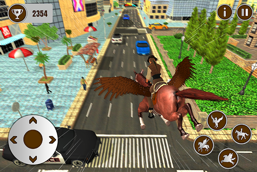 Code Triche Flying Horse Taxi Transport en ville APK MOD (Astuce) screenshots 4