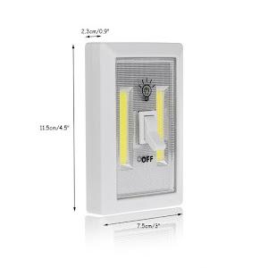 Set 2 x Intrerupator fara fir cu LED, 3 modalitati de montare