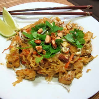Low-Carb Spicy Peanut Pad Thai.