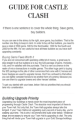 Guide For Castle Clash Free