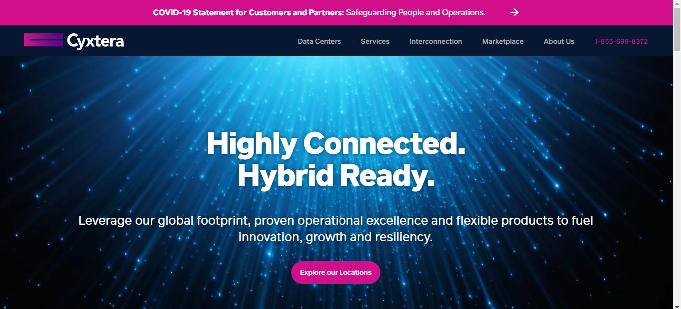 Cyxtera is a Data Center provider