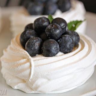 Blueberry Pavlovas