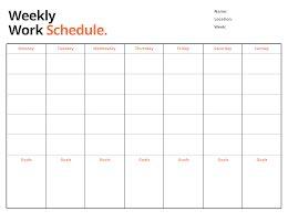 Weekly Work - Weekly Schedule item