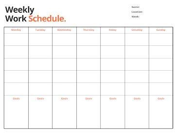 Weekly Work - Weekly Planner template