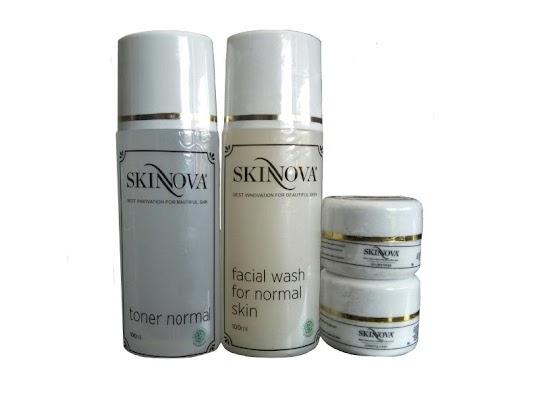 Paket Cream Glowing SKINNOVA toner krim siang malam sabun cream skin nova membuat wajah glowing