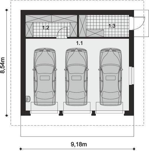 ARP 04 - Rzut garażu