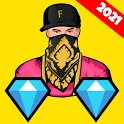 💎 Free Diamonds For Fire Quiz Real App 2021 icon