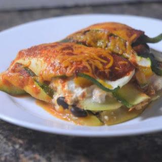 Zucchini Enchilada Lasagna (Gluten-Free, Grain-Free, Vegetarian).