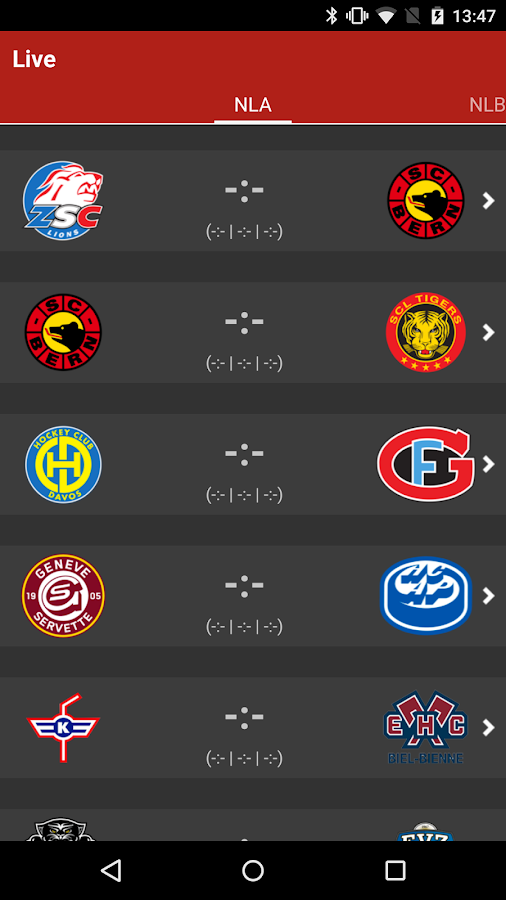 HockeyInfo- screenshot