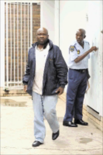 COURT DATE: Munghana Lonene FM music compiler Freddy Baloyi is remanded in custody until his bail hearing on April 13. PIC: ELIJAR MUSHIANA. 06/04/2010. © Sowetan.