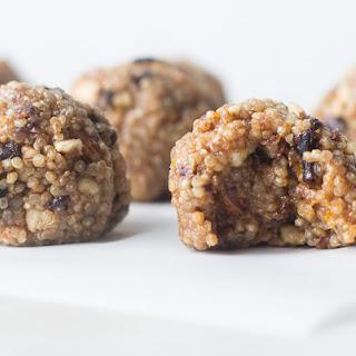 No Bake Almond Quinoa Energy Balls