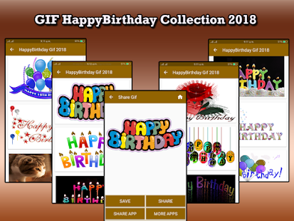 Gif Happy Birthday Collection 2018 - náhled