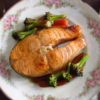 Sautéed Salmon With Vegetables.