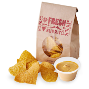 Bag of Tortilla Chips with Chipotle Cheese Sauce