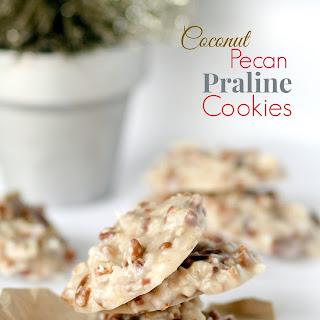No Bake Coconut Pecan Praline Cookies.