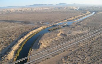 Photo: Confluence of 4 canals near Interstate 8