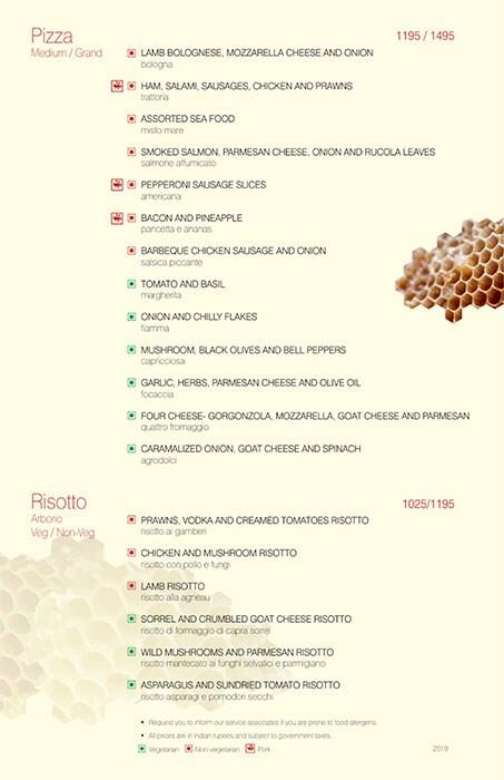 Trattoria, Vivanta By Taj President menu 3