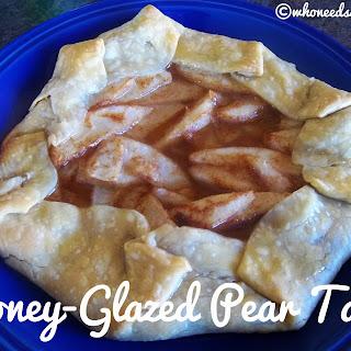 Honey Glazed Pear Tart