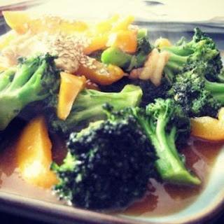 Broccoli Chicken w Shrimp Stir Fry.
